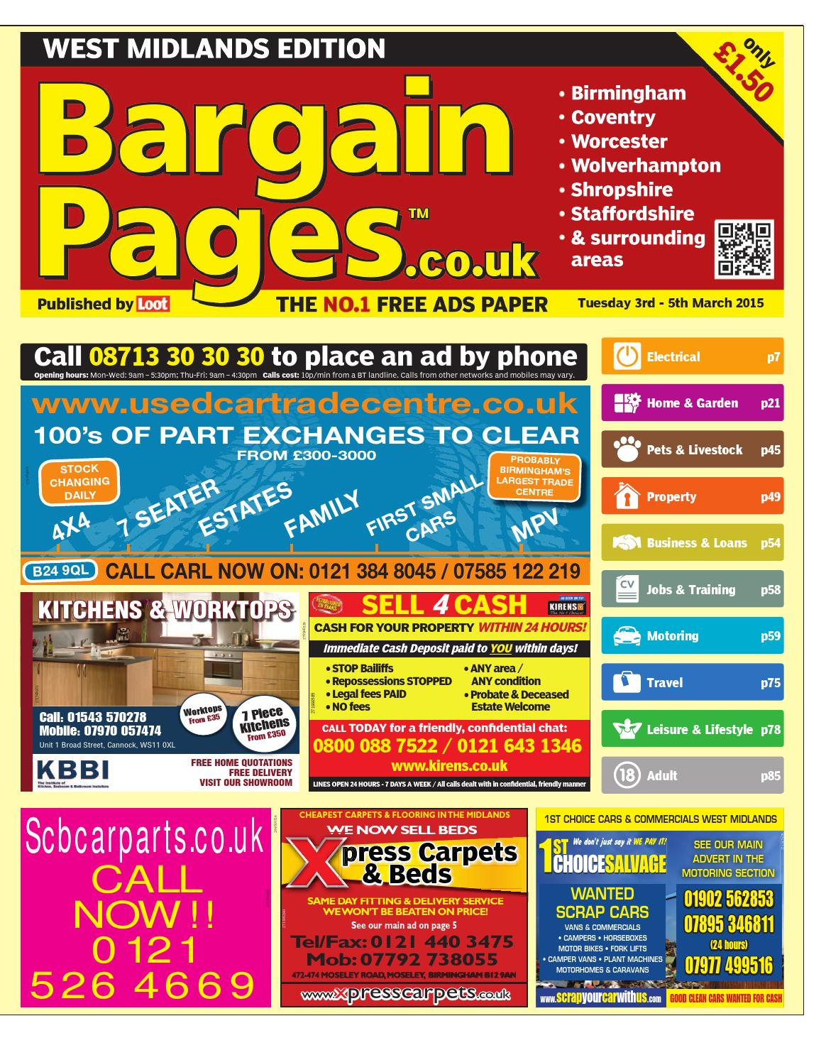 8b5b89dbdc8 Bargain Pages West Midlands, March 3rd 2015 by Loot - issuu