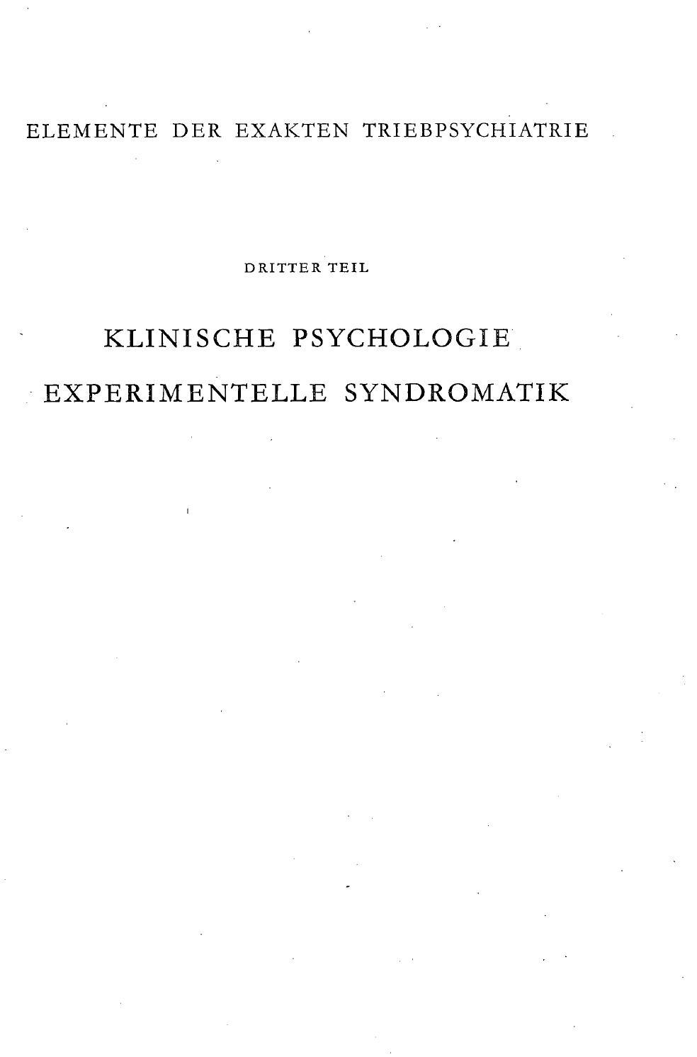 Triebpathologie 2 Teil By Szondi Institut Issuu