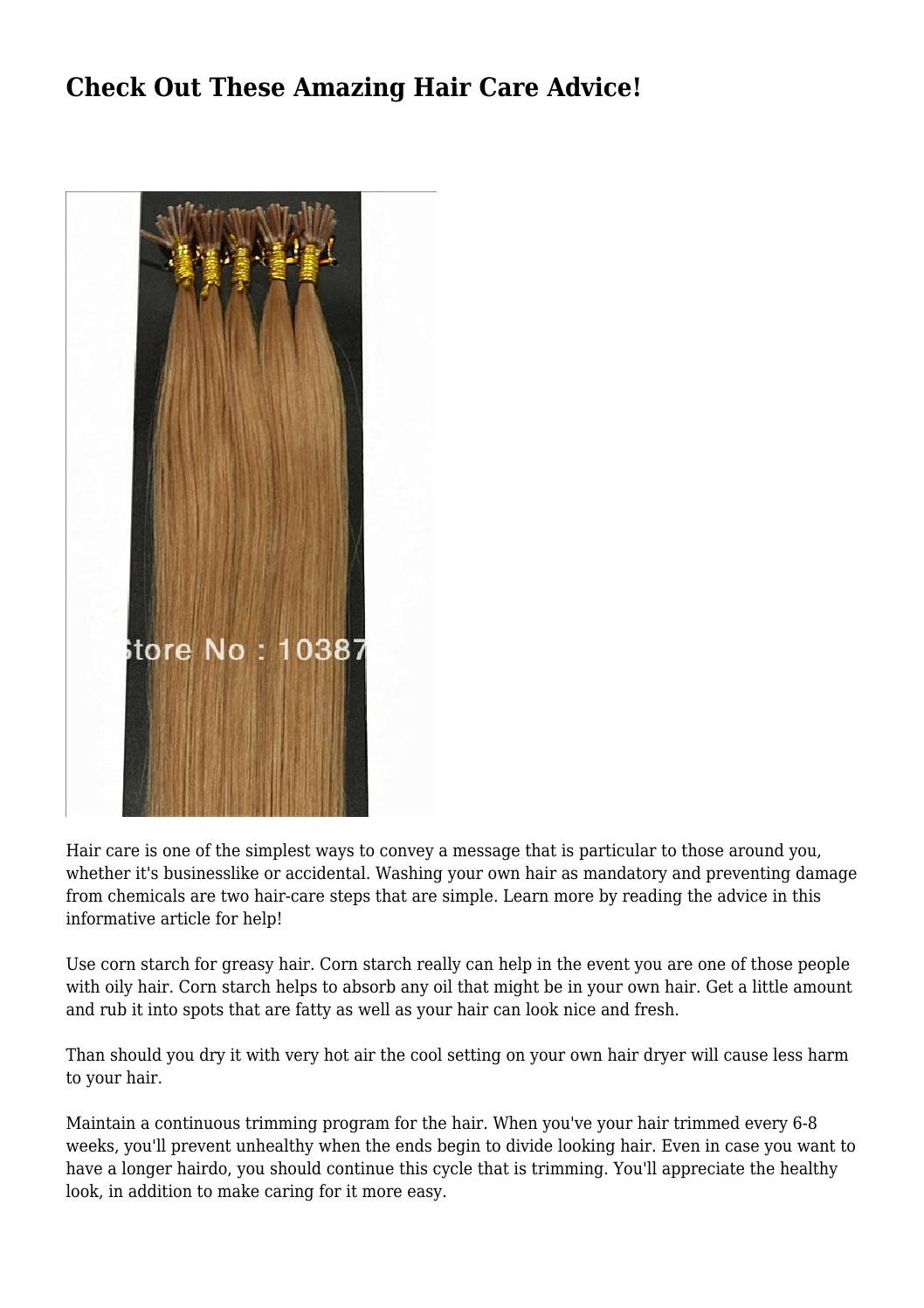 Check Out These Amazing Hair Care Advice By Imperfectalloy644 Issuu