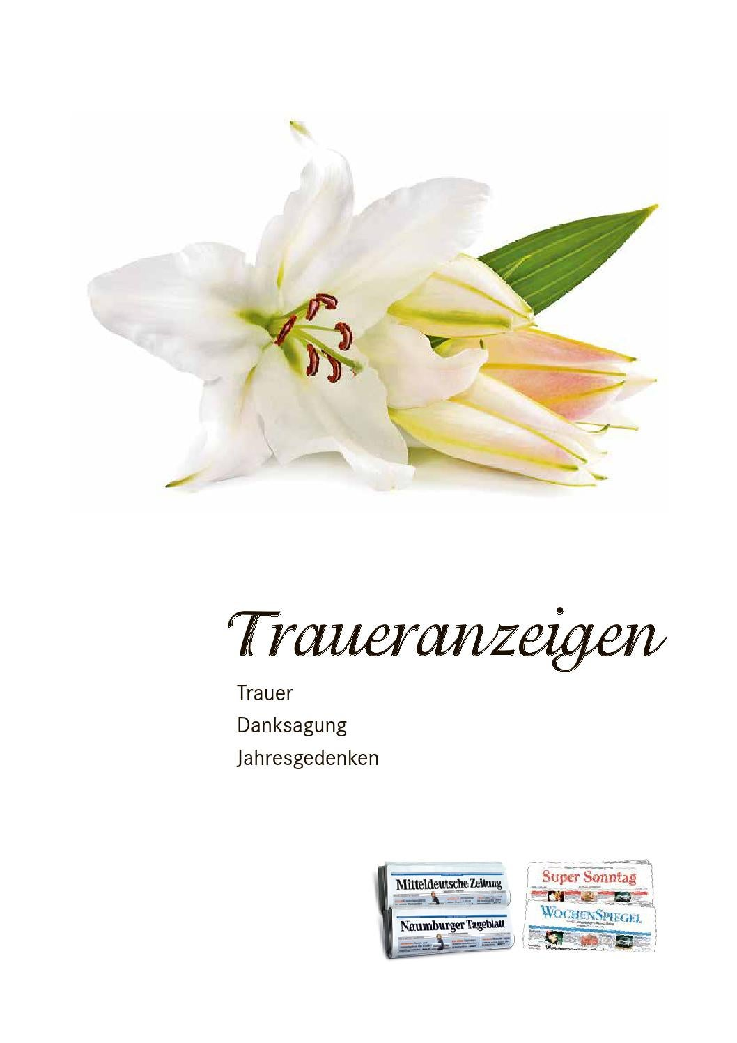 Mitteldeutsche Zeitung Trauer