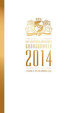 RTU Doktorantūras absolventu gadagrāmata 2014