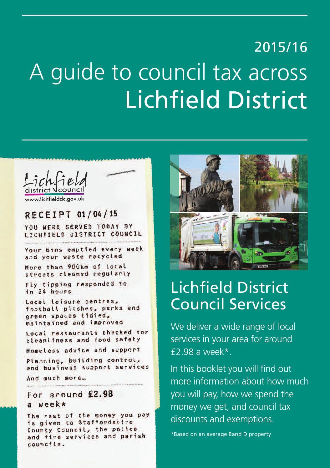 Ldc Council Tax Leaflet 2015 By Lichfield District Council
