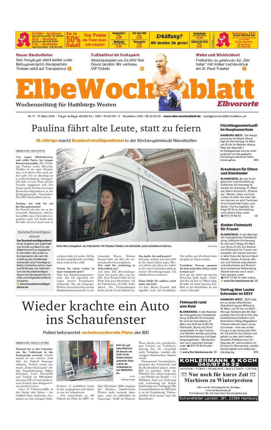 Elbvororte KW11-2015 by Elbe Wochenblatt Verlagsgesellschaft mbH & Co.KG -  issuu
