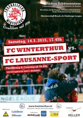 Matchheft fcw vs fc lausanne sport sa 14 for Lausanner fussballstadion