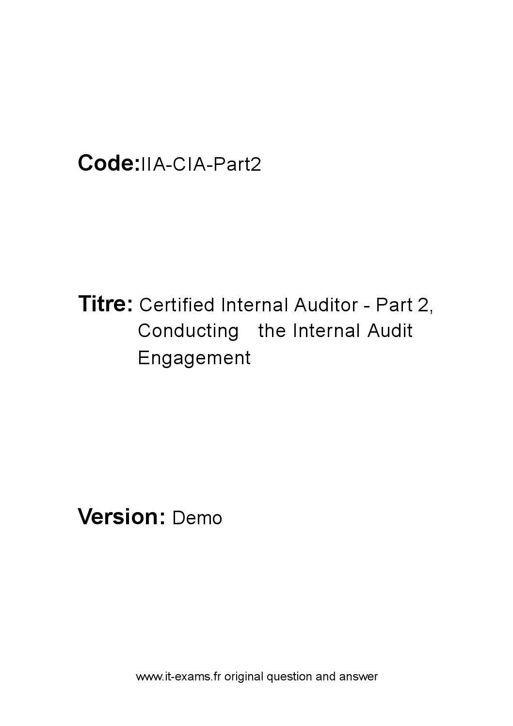 IIA-CIA-Part3-KR Exams Torrent