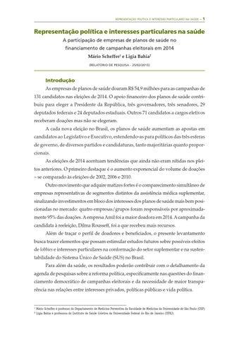 f1062d7652 REPRESENTAÇÃO POLÍTICA E INTERESSES PARTICULARES NA SAÚDE