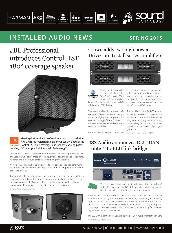 Harman Luxury Audio News: Sound Technology HARMAN Installed Audio News 03/15 By