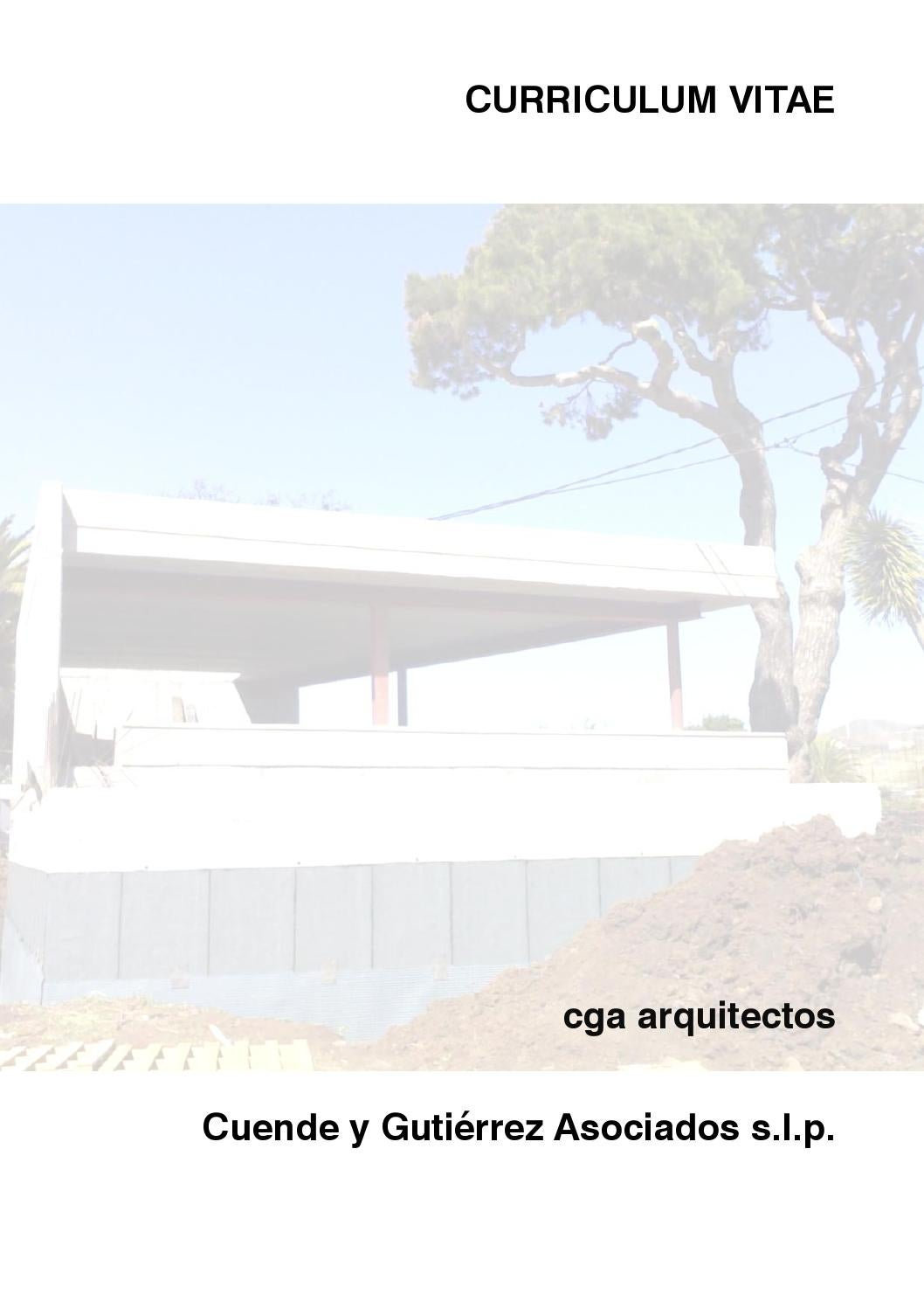 2015 curriculum vitae cga by Cuende y Gutiérrez Ass Arq - issuu