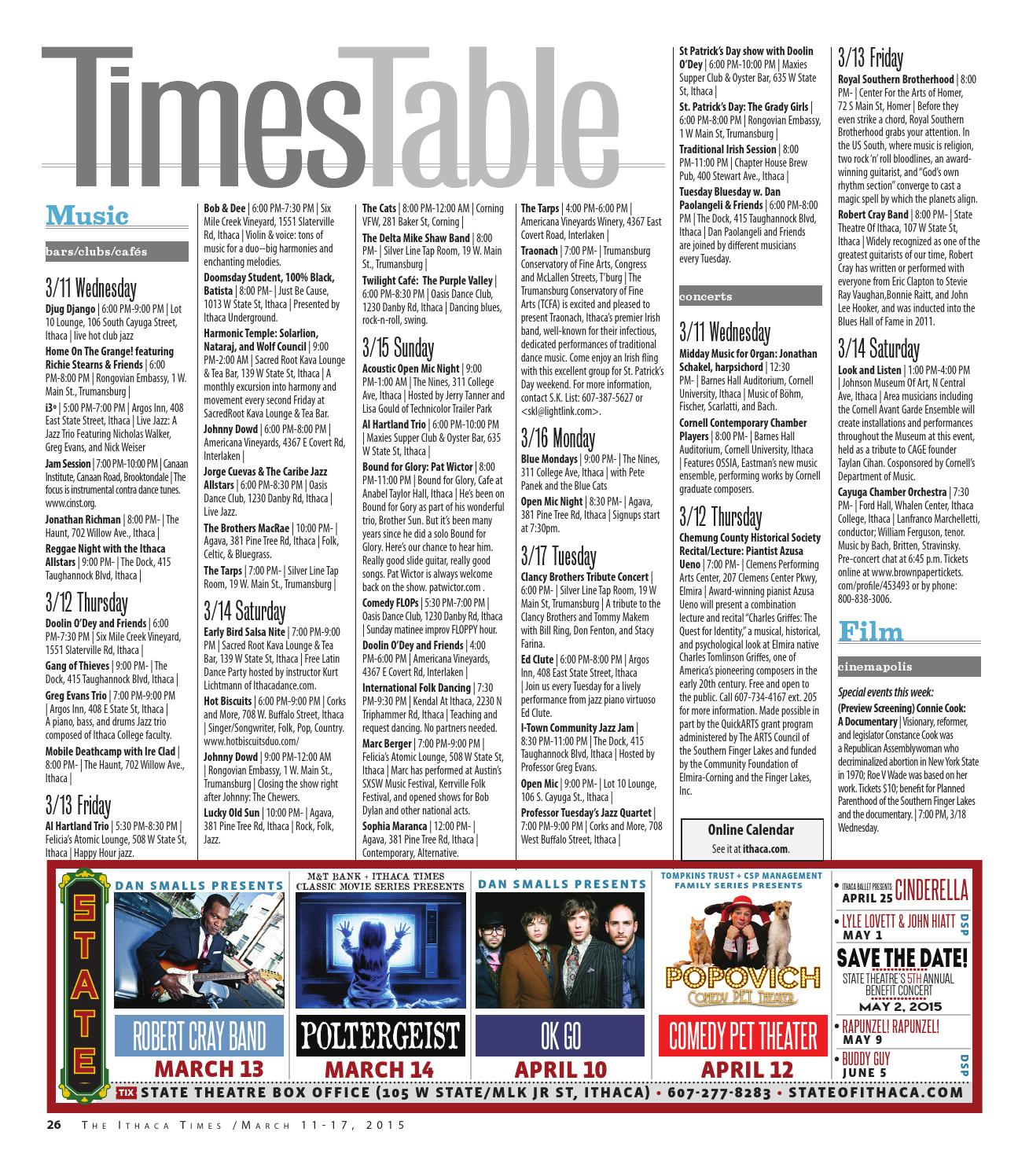 March 11, 2015 by Ithaca Times - issuu
