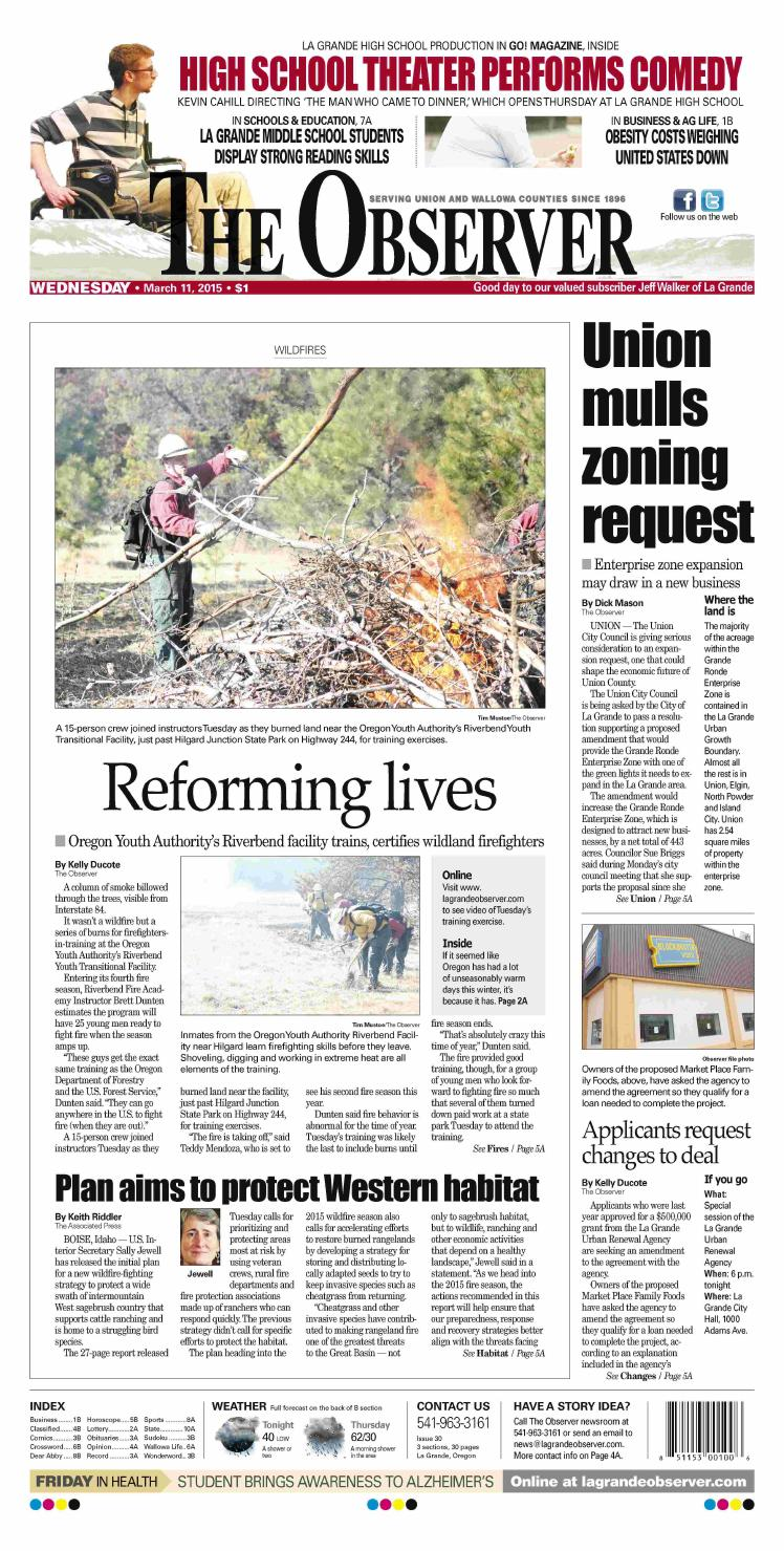 The Observer Paper 3 11 15 By Northeast Oregon News Issuu