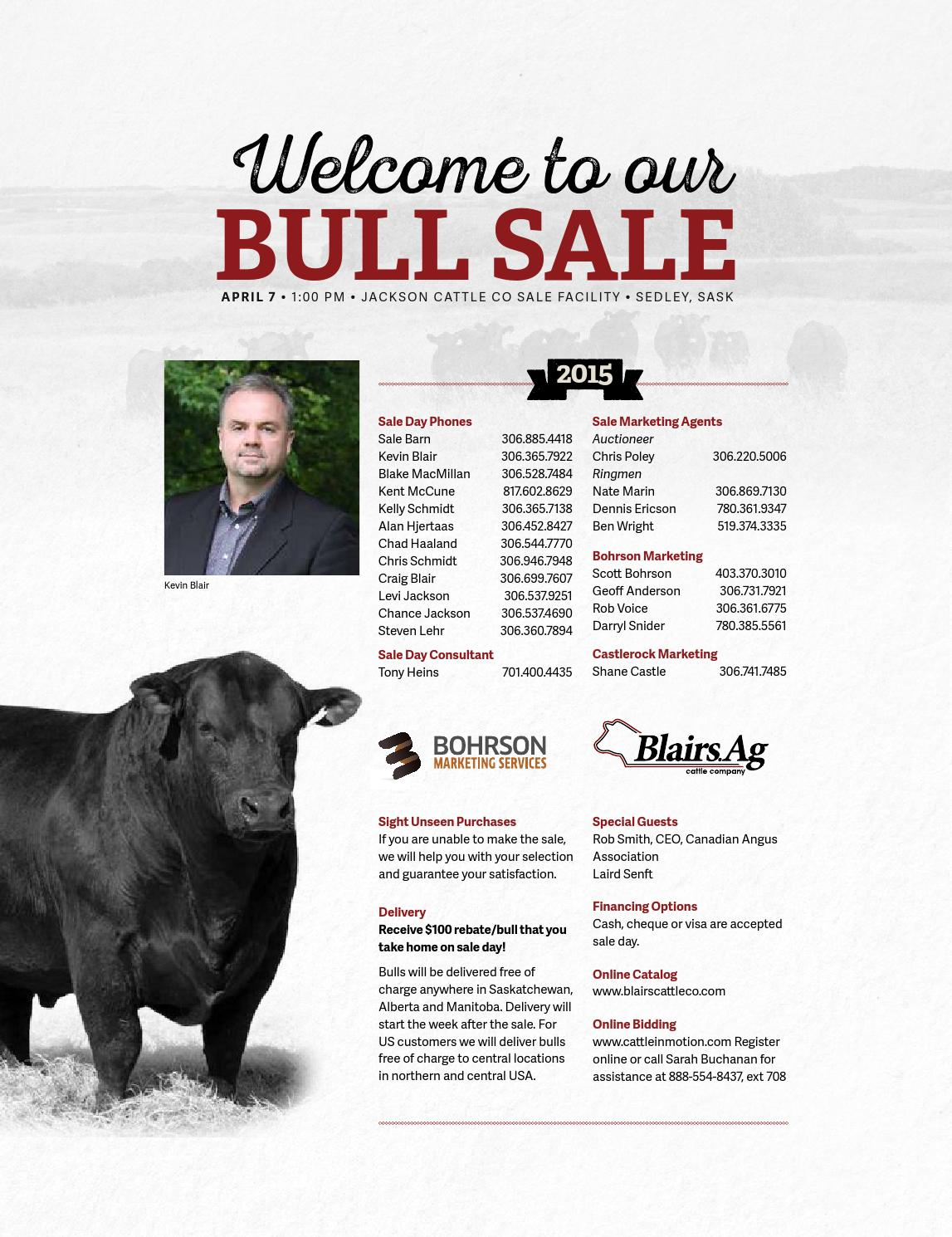 Blairs Ag Cattle Co  Pursuit of Excellence Bull Sale, 2015