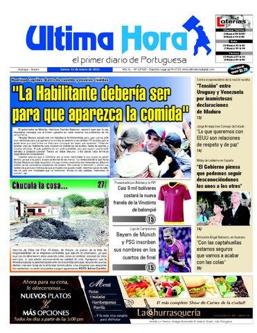Edicion12 03 2015 by Ultima Hora - El primer diario de Portuguesa ... 3825b5bfc10c9