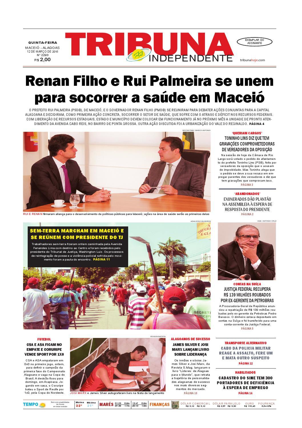 4421c69d4e Edição número 2293 - 12 de março de 2015 by Tribuna Hoje - issuu