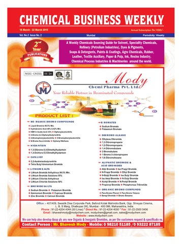 Chemical business weekly 16 mar 22 mar 2015 by The Mazada