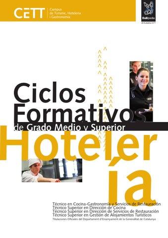 Cett Catálogo Ciclos Formativos Hotelería 2015 Cast By Grup