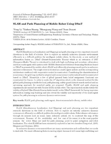 Slam and Path Planning of Mobile Robot Using DSmT