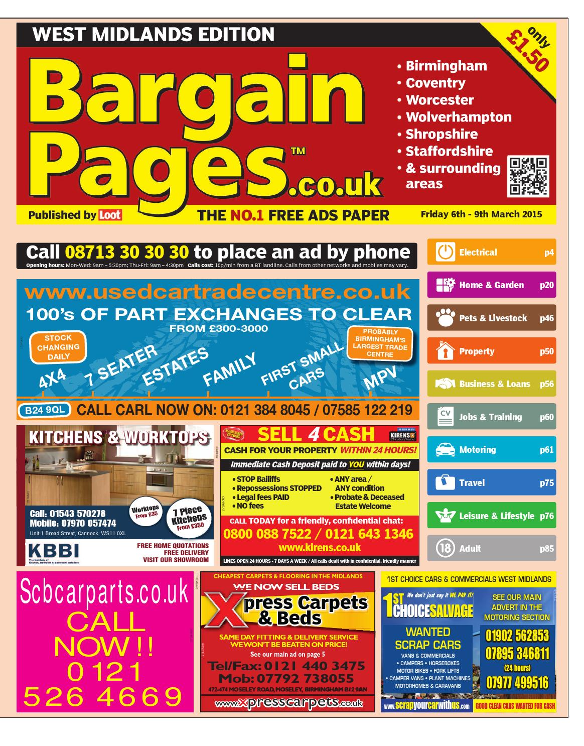 Bargain Pages West Midlands 6th March 2015 by Loot - issuu 140120ec3febc