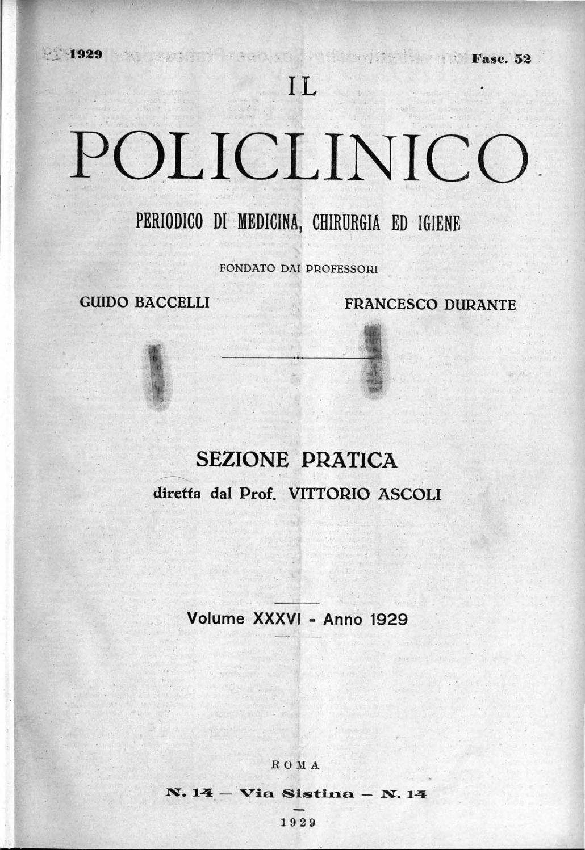 Il policlinico sezione pratica anno 1929 parte 1 ocr parte1 by Accademia di  Medicina Torino - issuu f94c5e25fa6