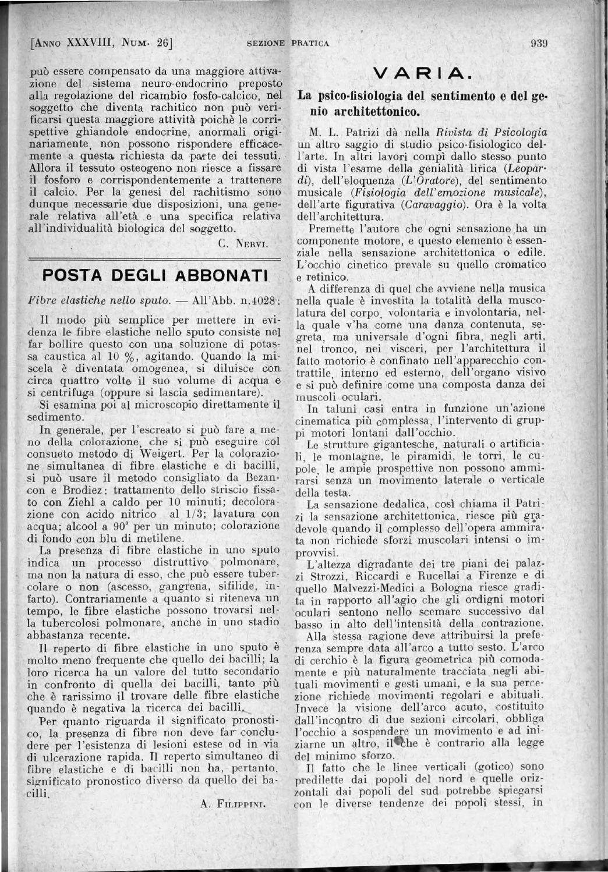 Il Policlinico Sezione Pratica Anno 1931 Parte 1 Ocr Parte3 By