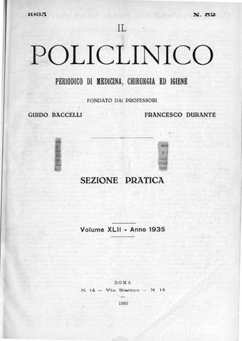 Il policlinico sezione pratica anno 1935 parte 1 ocr parte1 by ... fe3247f9c079
