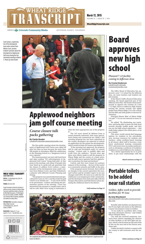Wheat Ridge Transcript 0312 By Colorado Community Media Issuu