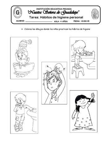 Tarea habitos de higiene personal by katy-hormiguita - issuu