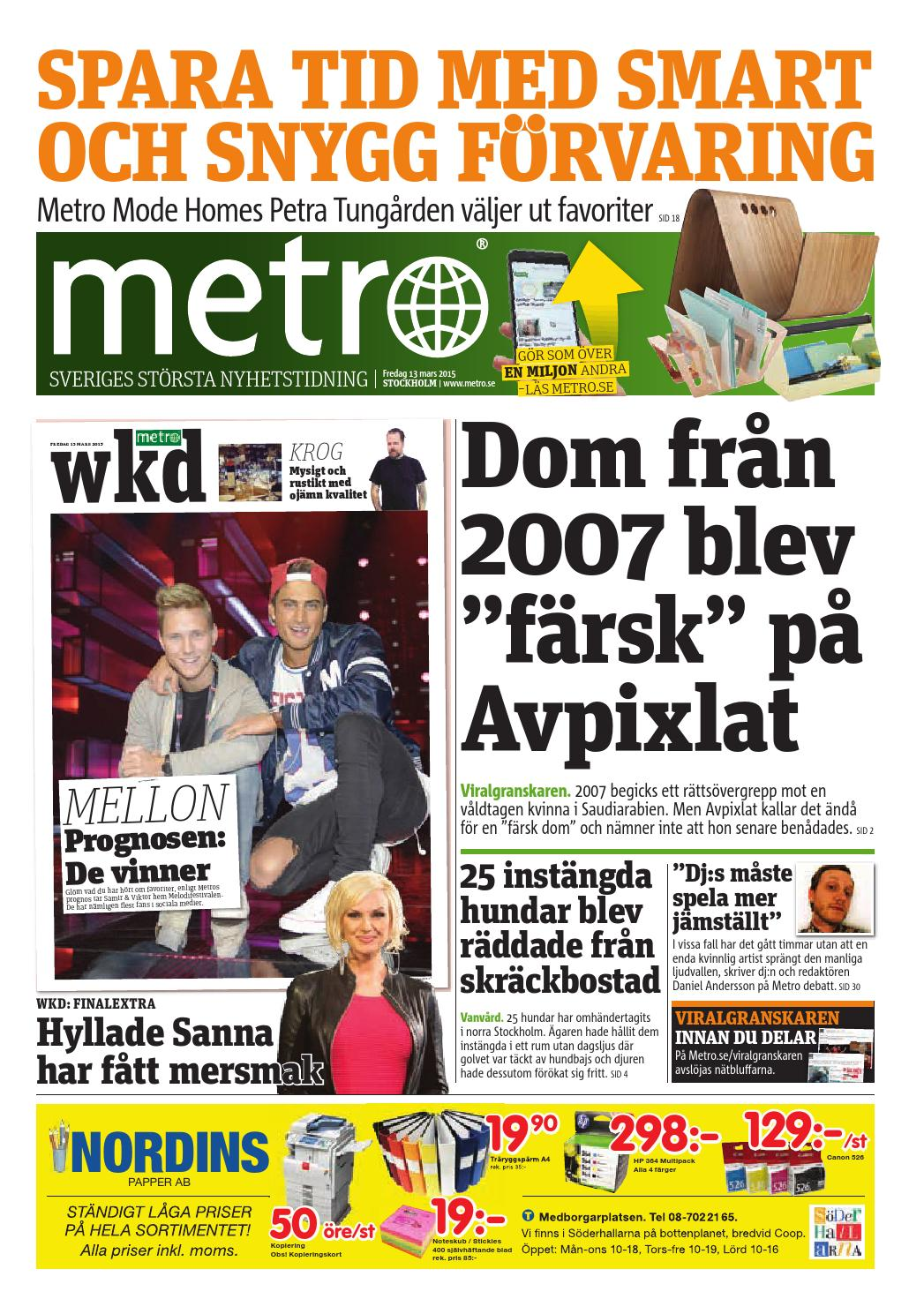 big sale 9668b 74614 20150313 se stockholm by Metro Sweden - issuu