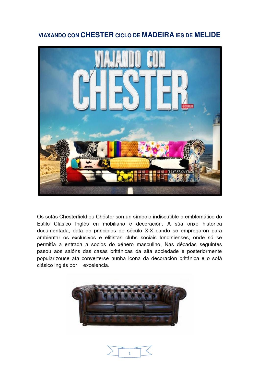 Os sof s chester by susana losada issuu for Sofa clasico ingles