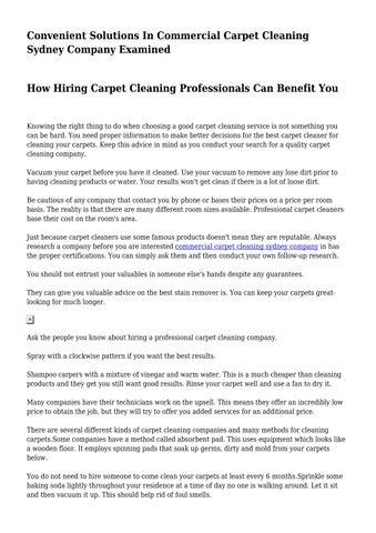 Best Carpet Cleaning Sydney That People Need