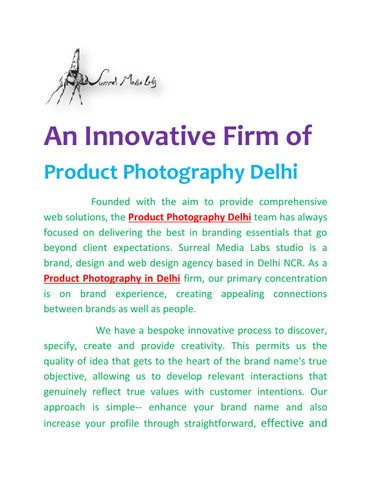 Product photography delhi by surrealmedialabs - issuu