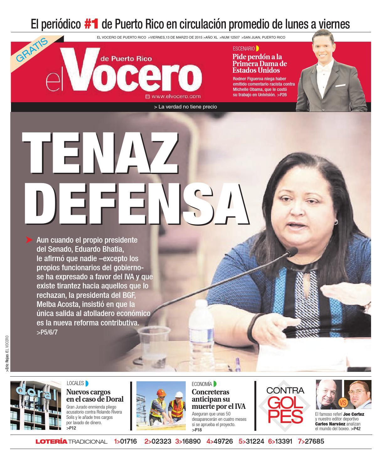 33ef674b5 Edición 13 de Marzo 2015 by El Vocero de Puerto Rico - issuu
