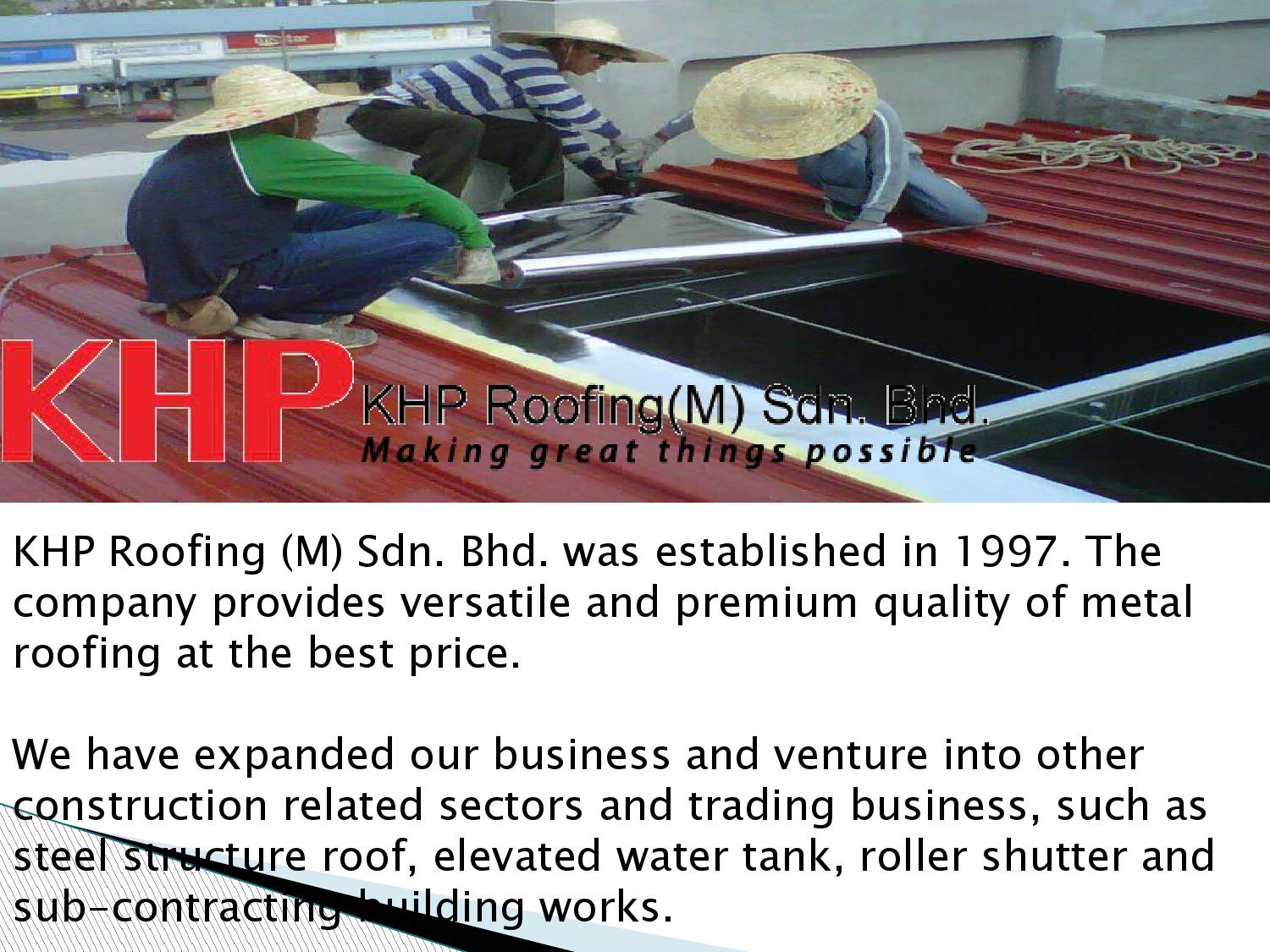 Metal Sheet Roofing Malaysia : Khproofing com my by Khp