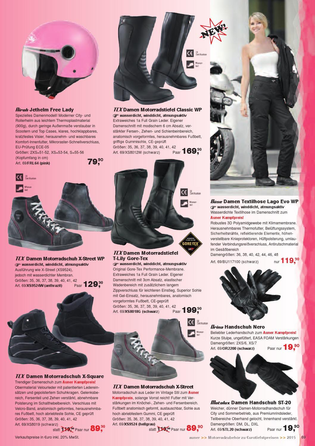 38 TCX Lady Sport Motorradstiefel Schwarz//Pink