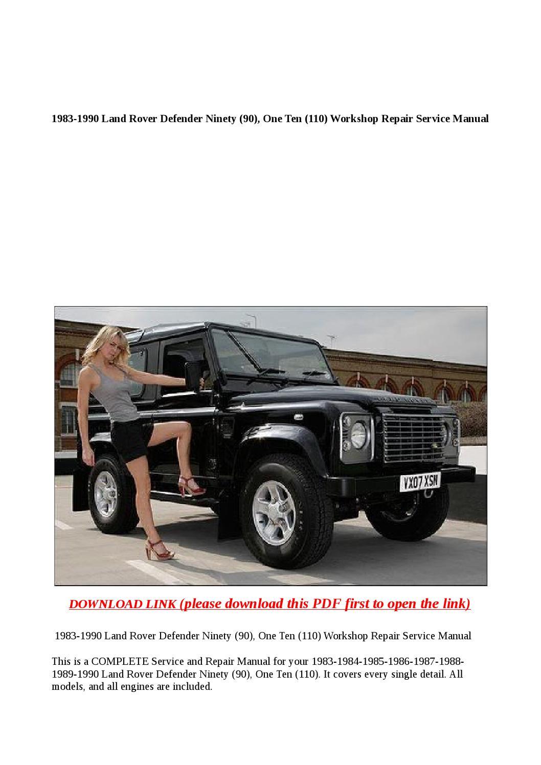 1983 1990 Land Rover Defender Ninety  90   One Ten  110