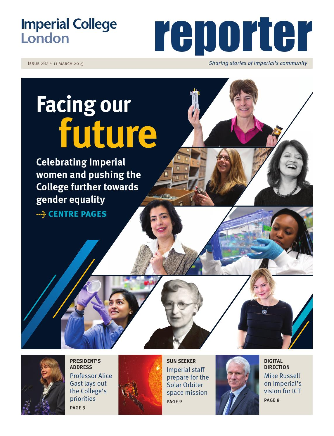 Reporter, issue 282 - 10 March 2013 by Imperial College London - issuu