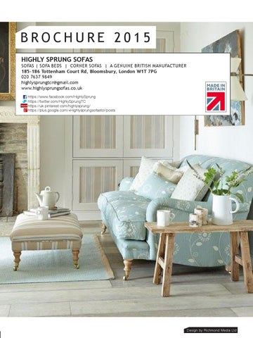 Brochure 2017 Highly Sprung Sofas