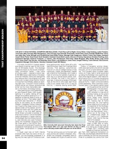 f3ccd2f3d THAT CHAMPIONSHIP SEASON 84. THE 2010-11 NCAA NATIONAL CHAMPION UMD BULLDOGS  ...