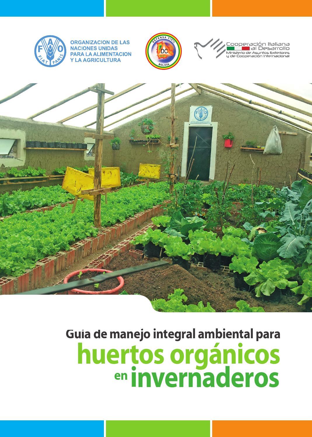 Bpa huertos org nicos en invernaderos manejo integral by for Herramientas de un vivero