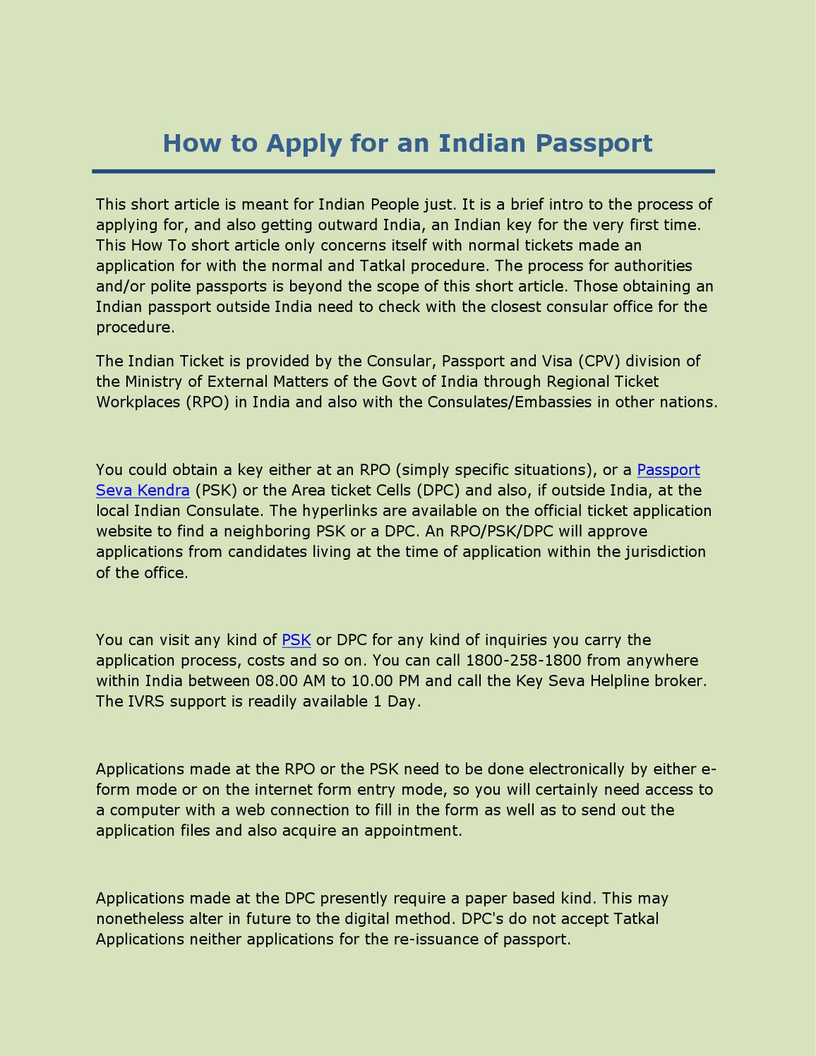 How to apply for indian passport by alisha kapoor issuu falaconquin