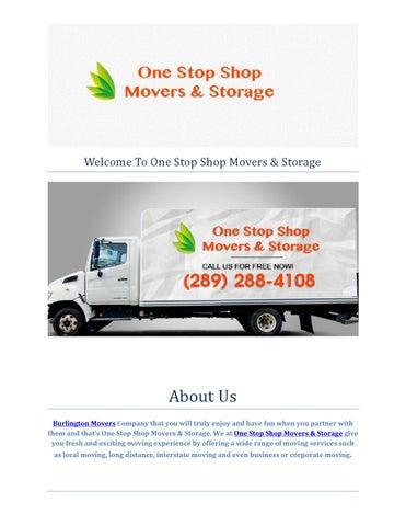 One Stop Shop Movers U0026 Storage Burlington Moving Company