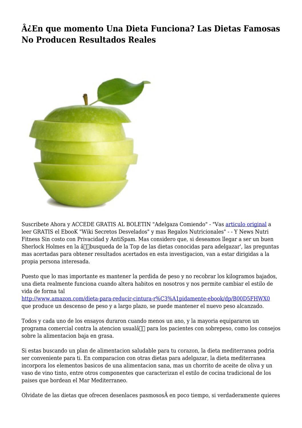dieta mediterránea resultados de pérdida de peso