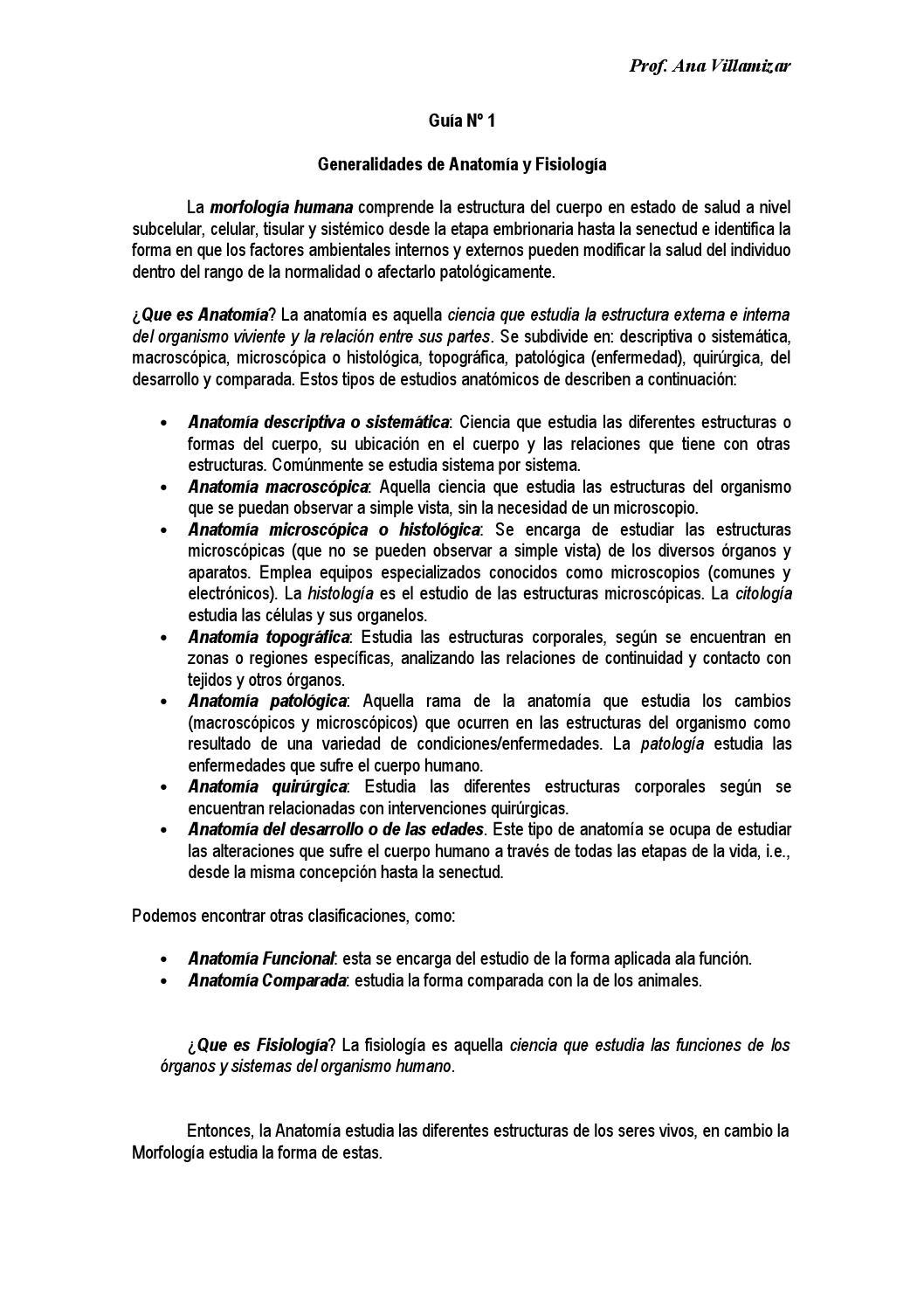 1 1 generalidades de morfologia by profanavillamizar@ - issuu
