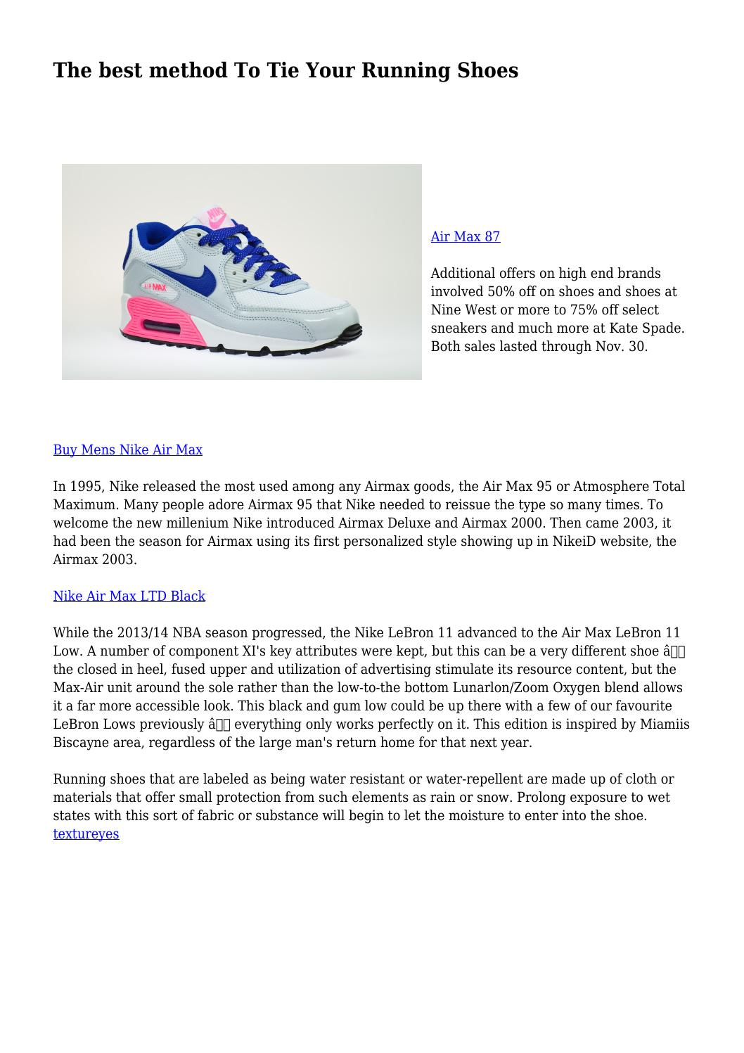 2bf1b593ba96e The best method To Tie Your Running Shoes by politicalcloset80 - issuu