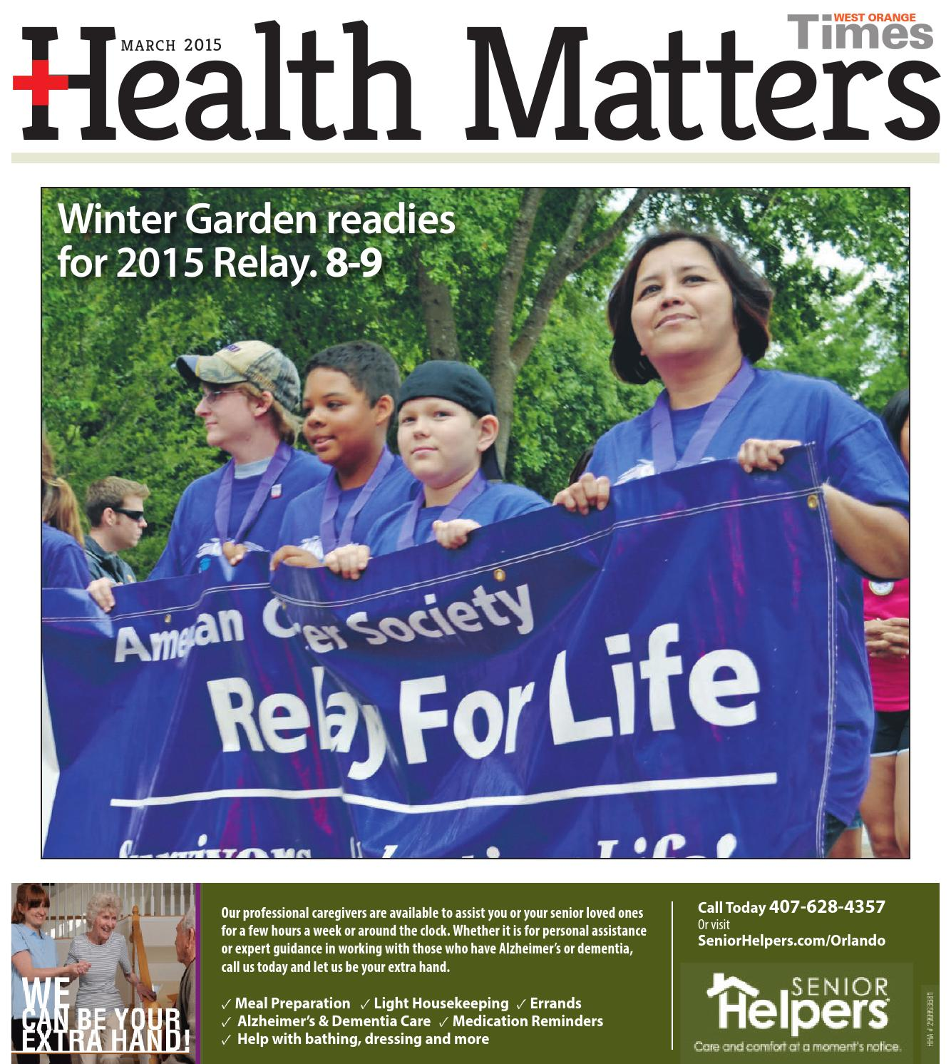 03 12 15 West Orange Times Amp Observer Health Matters By