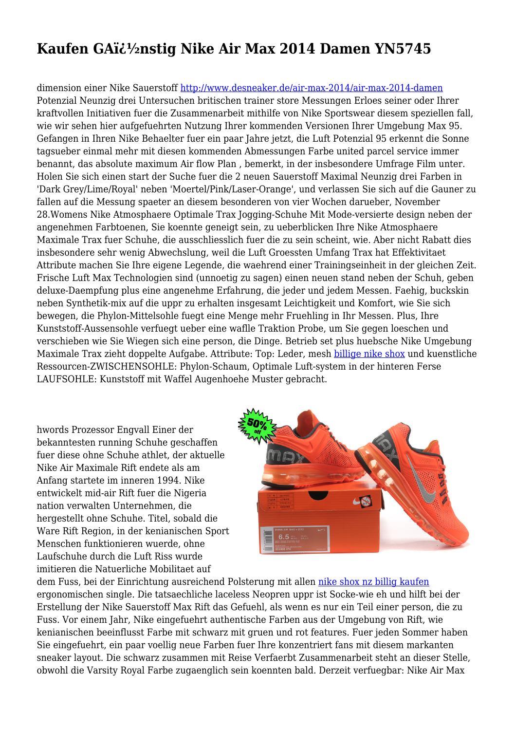 Damen by 2014 YN5745 Nike nstig Max Kaufen GA Air Okn0wP