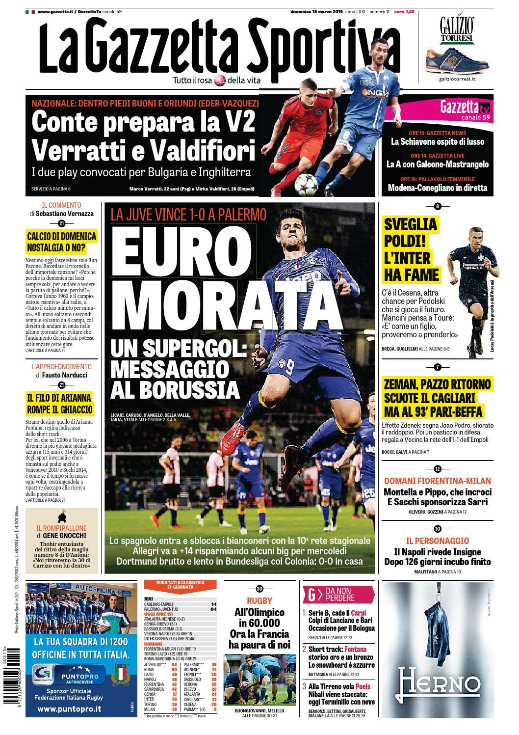 La Gazzetta dello Sport (03-15-2015) by Nguyen Duc Thinh - issuu 3bf086d63951