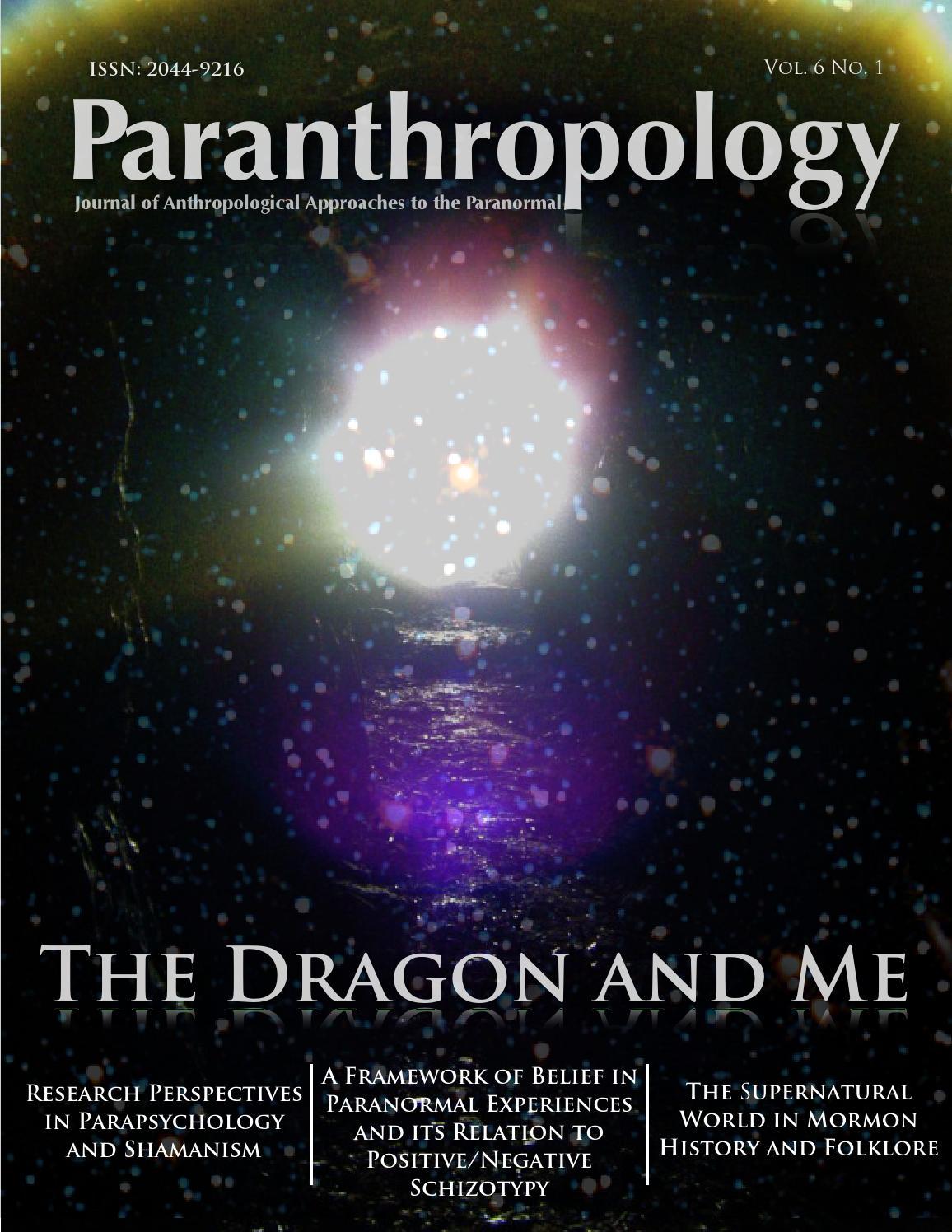 Paranthropology Vol  6 No  1 (January 2015) by Jack Hunter