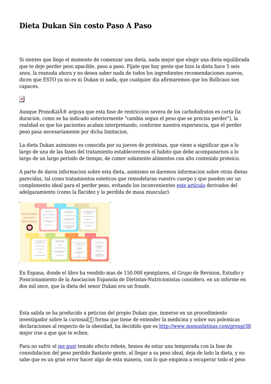 Dieta Dukan Sin costo Paso A Paso by testyroute6452 - issuu