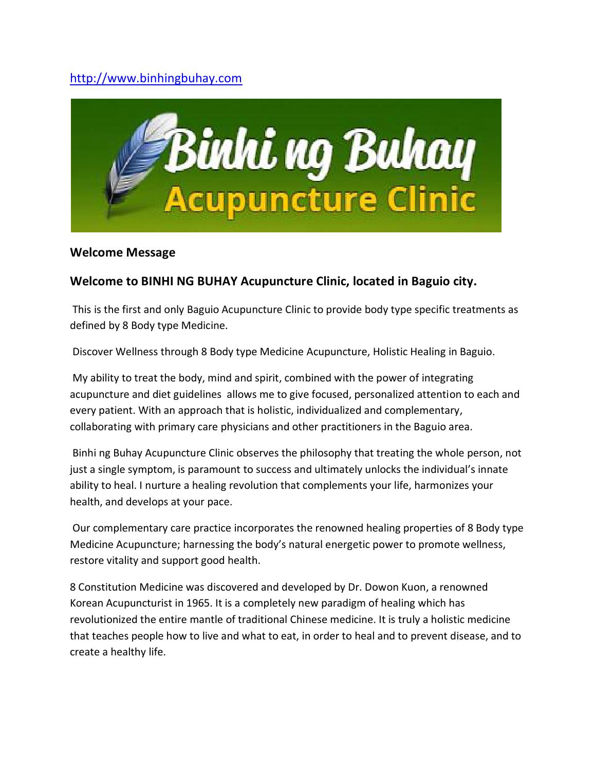 baguio acupuncture clinic by georgesmithree - issuu