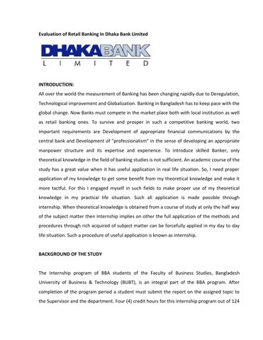 Internship Report, BBA (BRAC Business School)